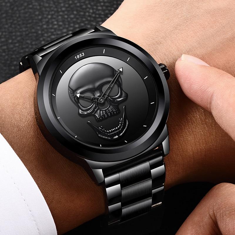 Skull Full Steel Waterproof Watch, by LIGE 1