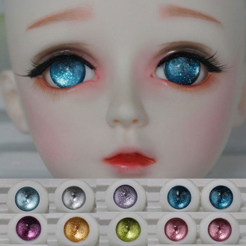 1 Pair Acrylic Toy Eyes for 1/3 1/4 1/6 SD BJD Doll Eyes Size 12MM 14MM 16MM 18MM 20MM Toy Dolls Accessories Eye Ball Accessory wowhot 1 4 bjd sd doll wigs for dolls high temperature wires short straight bangs fashion wig 1 6 1 3 for dolls accessories toy