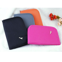 Travel canvas passport case cover credit card holder coin purse wallet organizer multifunction clutch documents bag