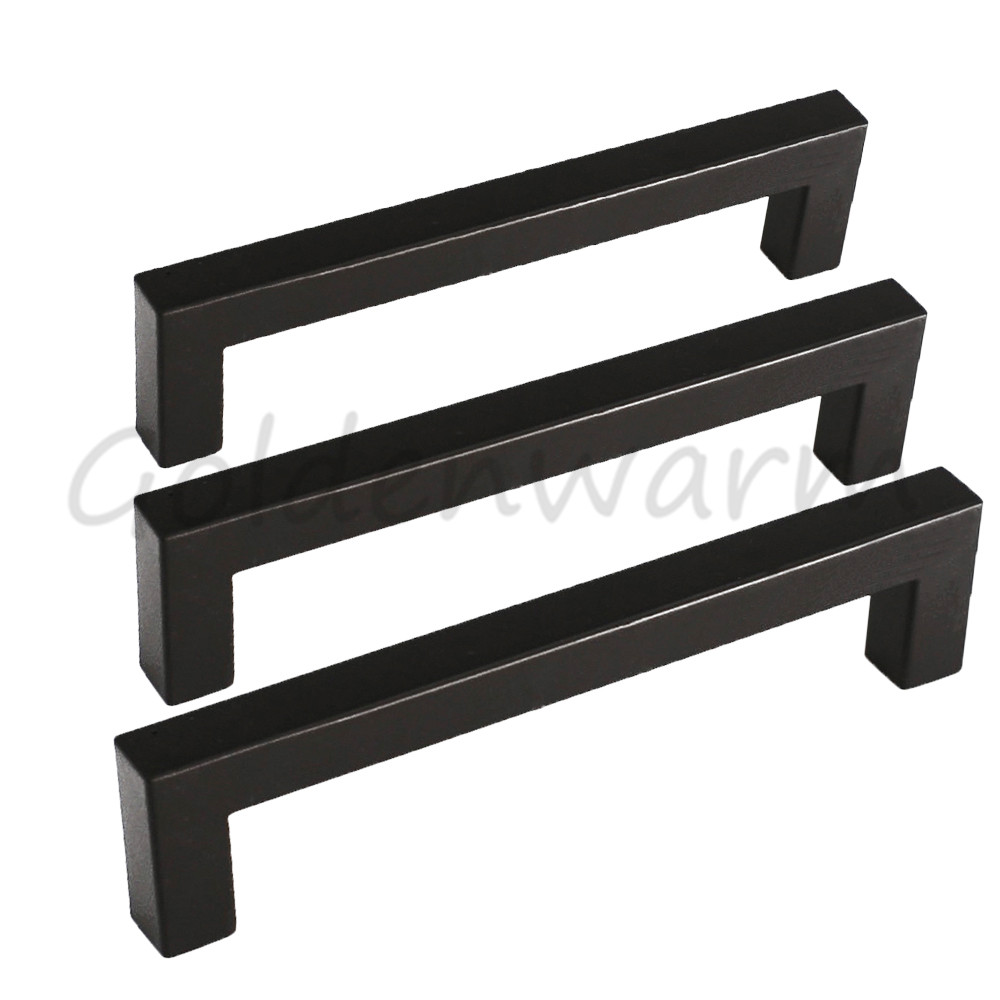 5 10 25 Cabinet Pull Square Drawer Handles Kitchen: Black Cabinet Drawer Handles Pulls J10BK Square Kitchen