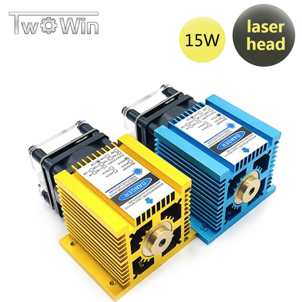 15W Fixed-Focus Blue-Violet Laser Module 15000mw For DIY Carving Engraving Machine Can Engrave On Stainless Steel