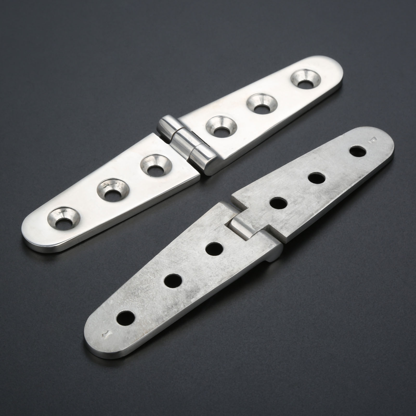 316 Marine Grade Stainless Steel Boat Deck Strap Door Hinge 100 x 25mm