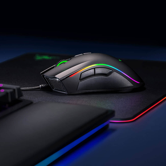 Original Razer Mamba Elite Wired Gaming Mouse 16000 DPI 5G Laser Sensor Chroma Light Ergonomic Gaming Mouse For PC Gamer Laptop 5