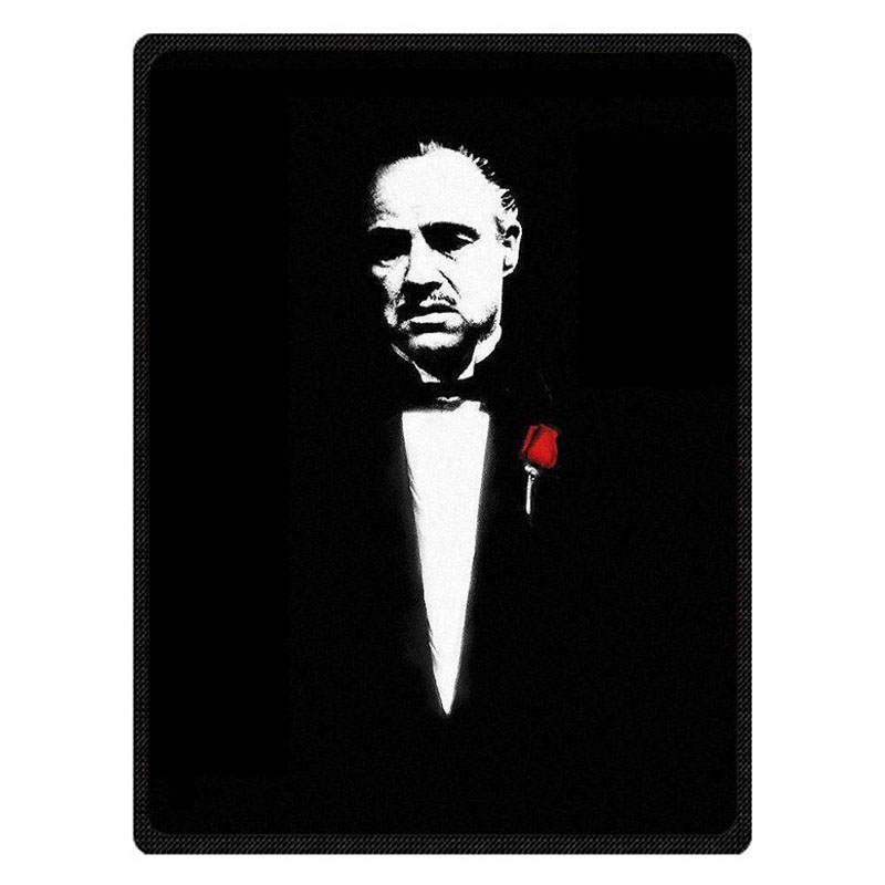 The Godfather Print Super Soft Manta Coral Flannel Blanket Bed Plane Travel Throw Blankets Baby Kids Bed Sheet