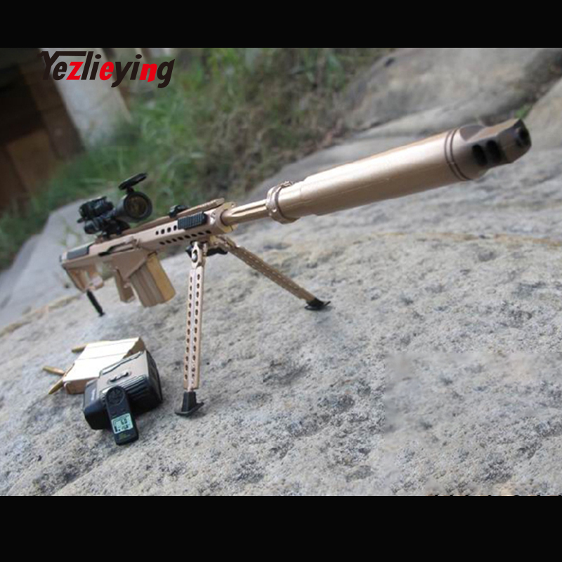 1//6 Weapon Model Barrett M82A1Sniper Rifle Toy for 12 inches Soldier Figure