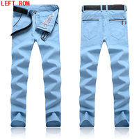Business Casual Style Pants 6 Colors Spring Summer Winter Men Cotton Slim Straight Trousers Casual Pants