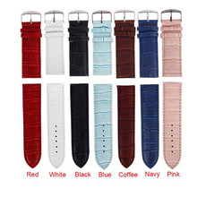 Irisshine i0856 High Quality Soft Sweatband Leather Strap Steel Buckle Wrist Watch Band 14/20/22/24/26mm