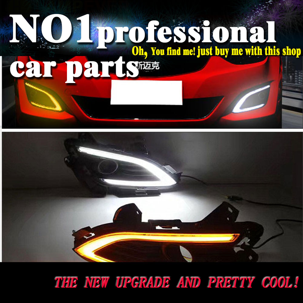 car styling 2016 For Hyundai Elantra LED DRL led fog lamps daytime running light High brightness guide LED DRL for lexus rx gyl1 ggl15 agl10 450h awd 350 awd 2008 2013 car styling led fog lights high brightness fog lamps 1set