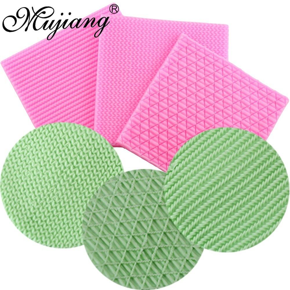 Mujiang Knitting Texture Cake Border Silicone Mold Cupcake Fondant Cake Decorating Tools Diy