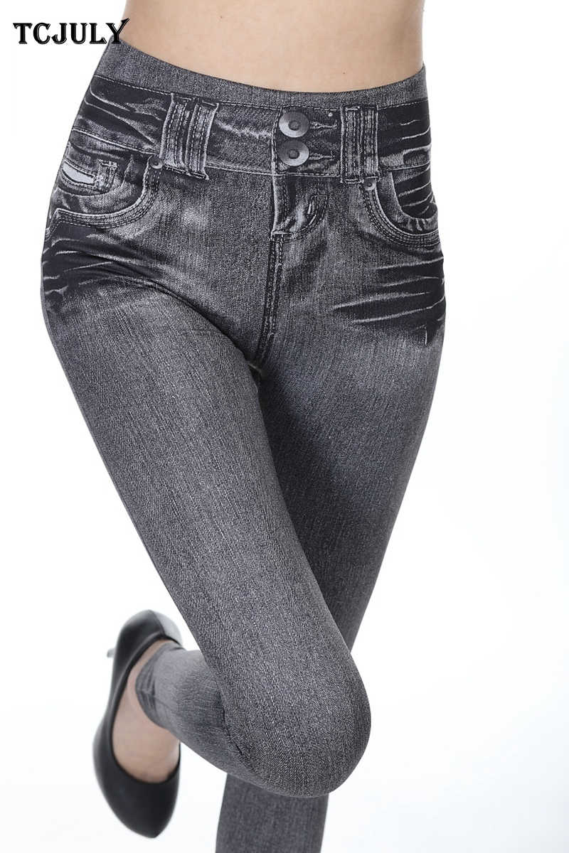 dbc209886318dc ... TCJULY Wholesale Seamless Jeggings Jeans For Women High Waist Slim Push  Up Ankle Length Pants Quick ...