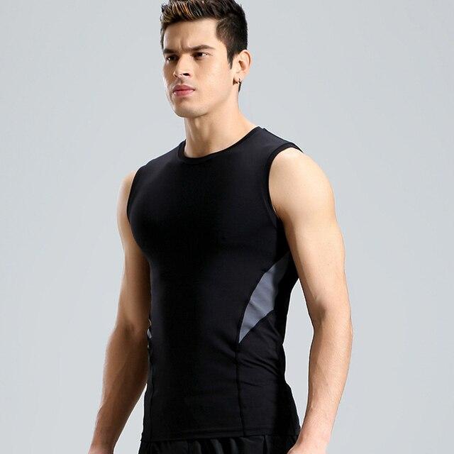 2f8fb8cae0440 Sportman tank top gym T-shirt sleeveless Tee top compression vest running  shirt slim dryfit shirts exercises activewear man tops
