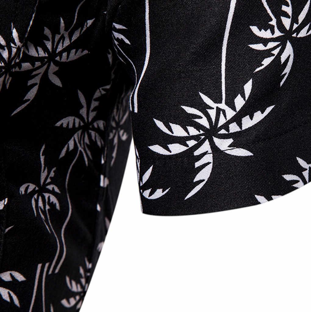 夏ハワイアンのメンズシャツカミーサカジュアル半袖シャツボタンビーチ速乾性ターンダウン襟ブラウストップストリート