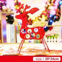 Let S Make 3D Baby Toys Elk Blocks Christmas Decoration Presents Baby Gift Toys Hobbies Wooden
