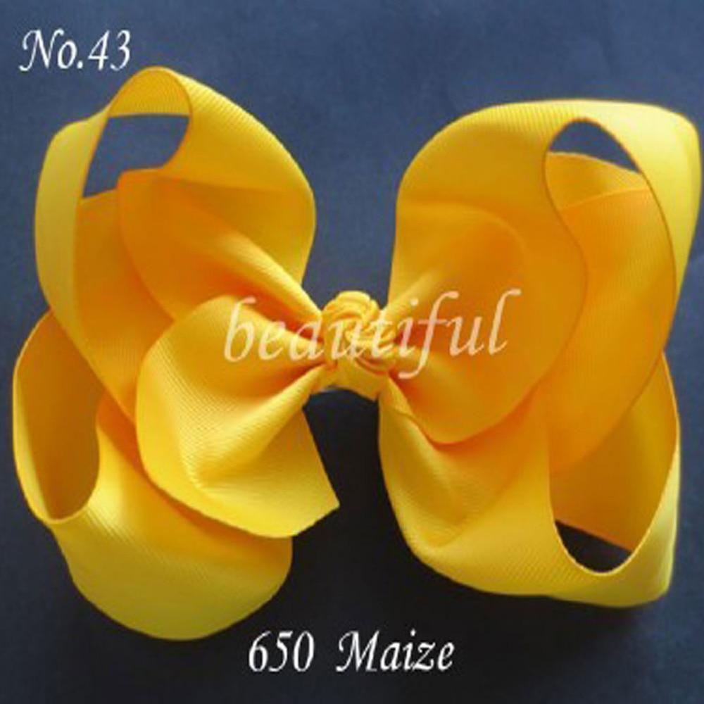 10 BLESSING Good Girl 7 Inch ABC Hair Bow Clip 2.5 Grosgrain Ribbon 79 No.