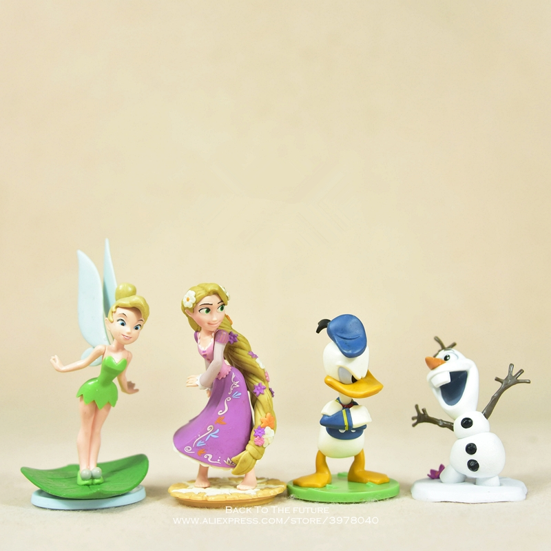 Disney Tinker Bell Donald Duck Olaf 7-11cm Action Figure Model Anime Mini Decoration PVC Collection Figurine Toy Model Children