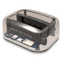 Dual Slots USB 3.0 to SATA IDE External Hard Drive Dock Station With Card Reader USB Hub For 2.5 3.5 IDE SATA I/II/III HDD SSD