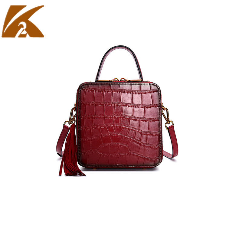 High Quality Genuine Leather Crossbody Bags for Women Vintage Real Cow Leather Handbags Messenger Bags Female Party Shoulder Bag fashion crocodile genuine leather bags for women leather handbags female high quality big red leather shoulder messenger bag