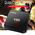 V88 Android Tv Box 1 GB/8 GB Quad-Core Android 5.1 4 K x 2 K HDMI2.0 inteligente Reproductor multimedia DLNA Android Tv Box Rockchip 3229 hasta 1.5 GHZ