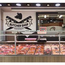 Classic butcher shop Home Decoration Wall Stickers Decal For Butcher Shop Mural Kill Animals Vinyl Commercial naklejki na sciane