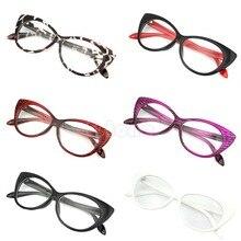 New Cat Eye Glasses Sexy Striped Retro Fashion Women Ladies Eyewear Frame Clear Lens Vintage Eyewear 6 Colors