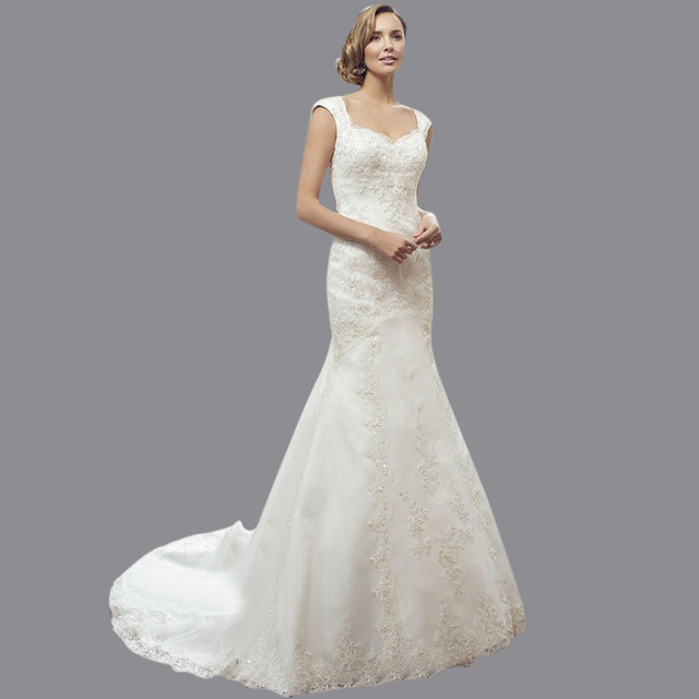 Aliexpress.com : Buy Beautiful See Through Back Wedding Dress ...