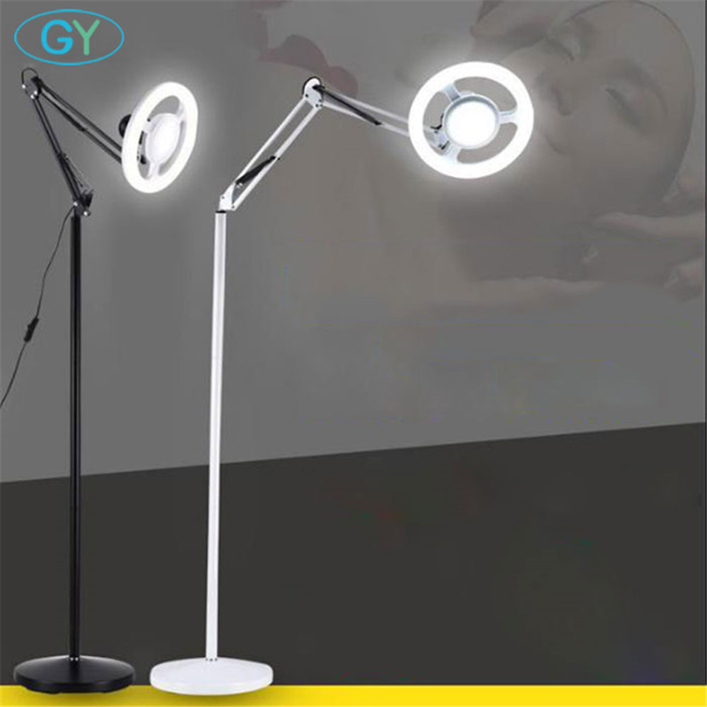 Industrial LED floor lamp 18W 25W living room bedroom sofa beauty tattoo tattoo floor lights black white piano standing lights modern wooden floor lamps bookshelf floor stand lights tea table standing lamp living room bedroom locker nightstand lighting