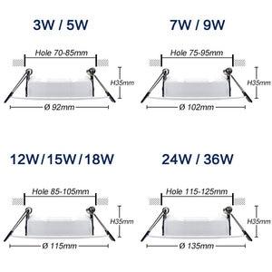 Image 2 - 10 adet kısılabilir su geçirmez led Downlight AC220V 230V 5W 7W 9W 12W 15W 18W LED kapalı lamba gömme LED Spot ışık banyo