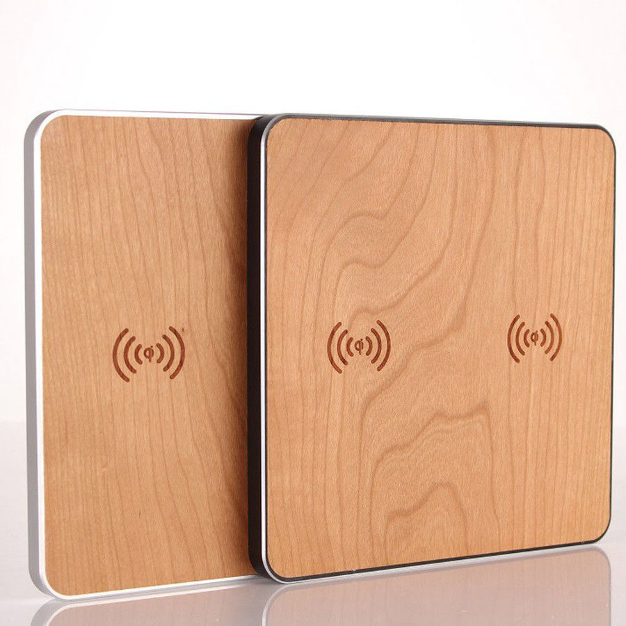 Retro Wood Stand Fast Qi Wireless Charger Pad Mat Mount Holder For iPhone X 8 8 Plus For Samsung S8 S7