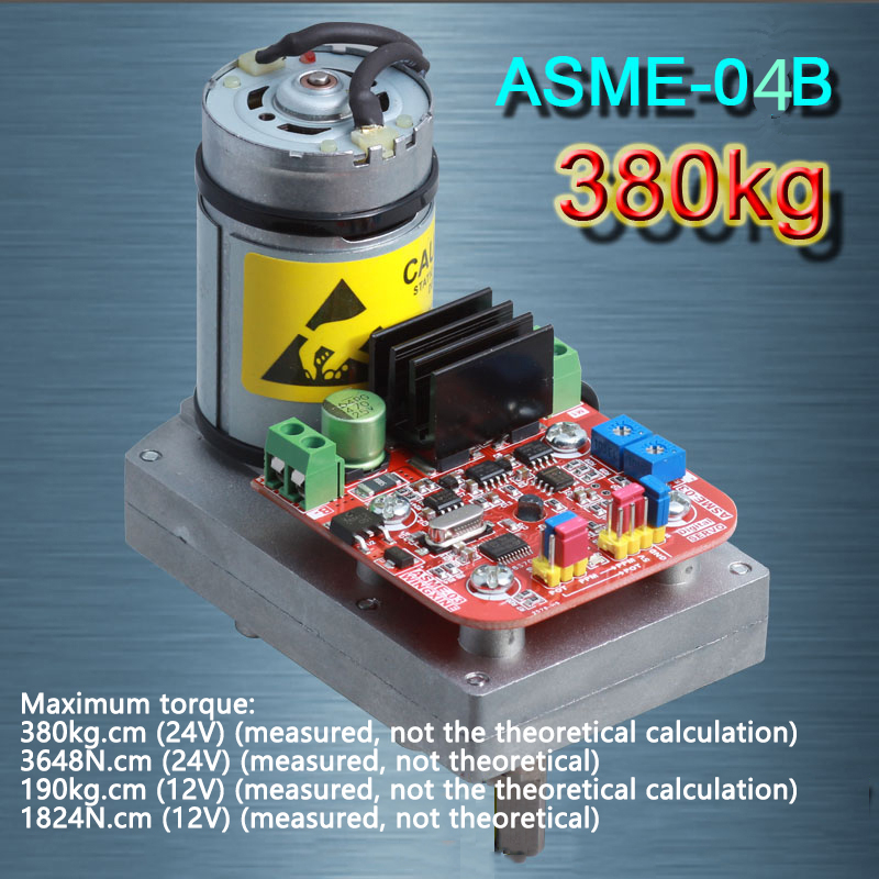 ASME-04B High-power high-torque Servo Steering Gear MAX 380Kg.cm ,0.5s-1.0s/60 Degree DC 12-24V for Robot Mechanical Arm jx pdi 5521mg 20kg high torque metal gear digital servo for rc model