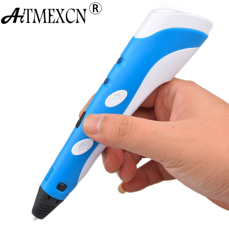 Christmas Birthday gift Magic 3D Printer Pen Drawing 3D Printing Pen Best for Kids DIY with 3 Color ABS Filament 1.75mm magic 3d printer pen drawing 3d pen abs filaments 3d printing 3d pens for kids birthday present