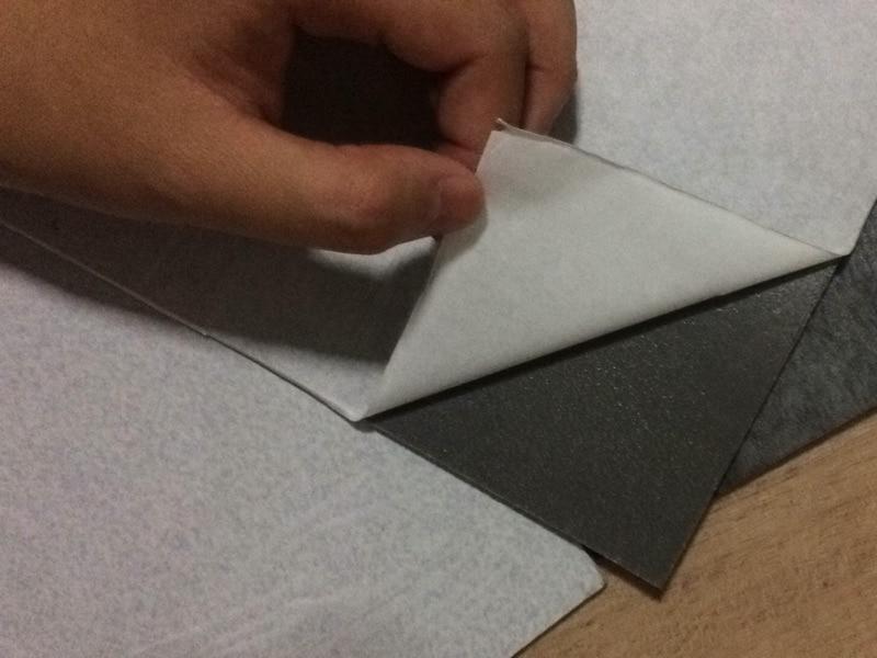 Marke Neue selbstklebende Stein korn pvc bodenbelag kunststoff boden fliesen wasserdichte tapete 10 Quadratmetern (1 pack 50 stück) - 3