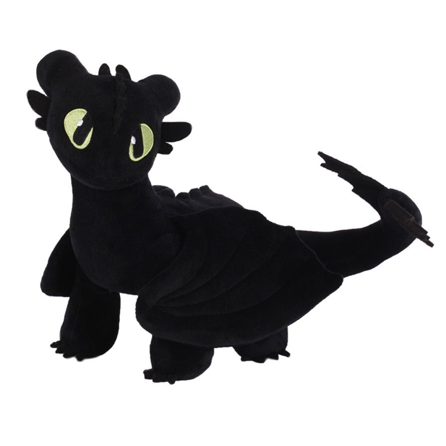 Toothless Night Fury Soft Stuffed Plush Toys 35cm Dragon Doll Figure Gifts Model Toys