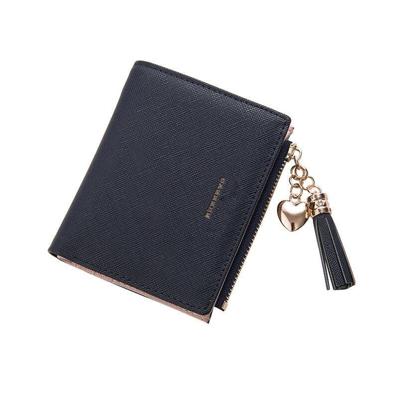 2018 Tassel Women Wallet Small Cute Wallet Women Short Leather Women Wallets Zipper Purses Portefeuille Female Purse Clutch
