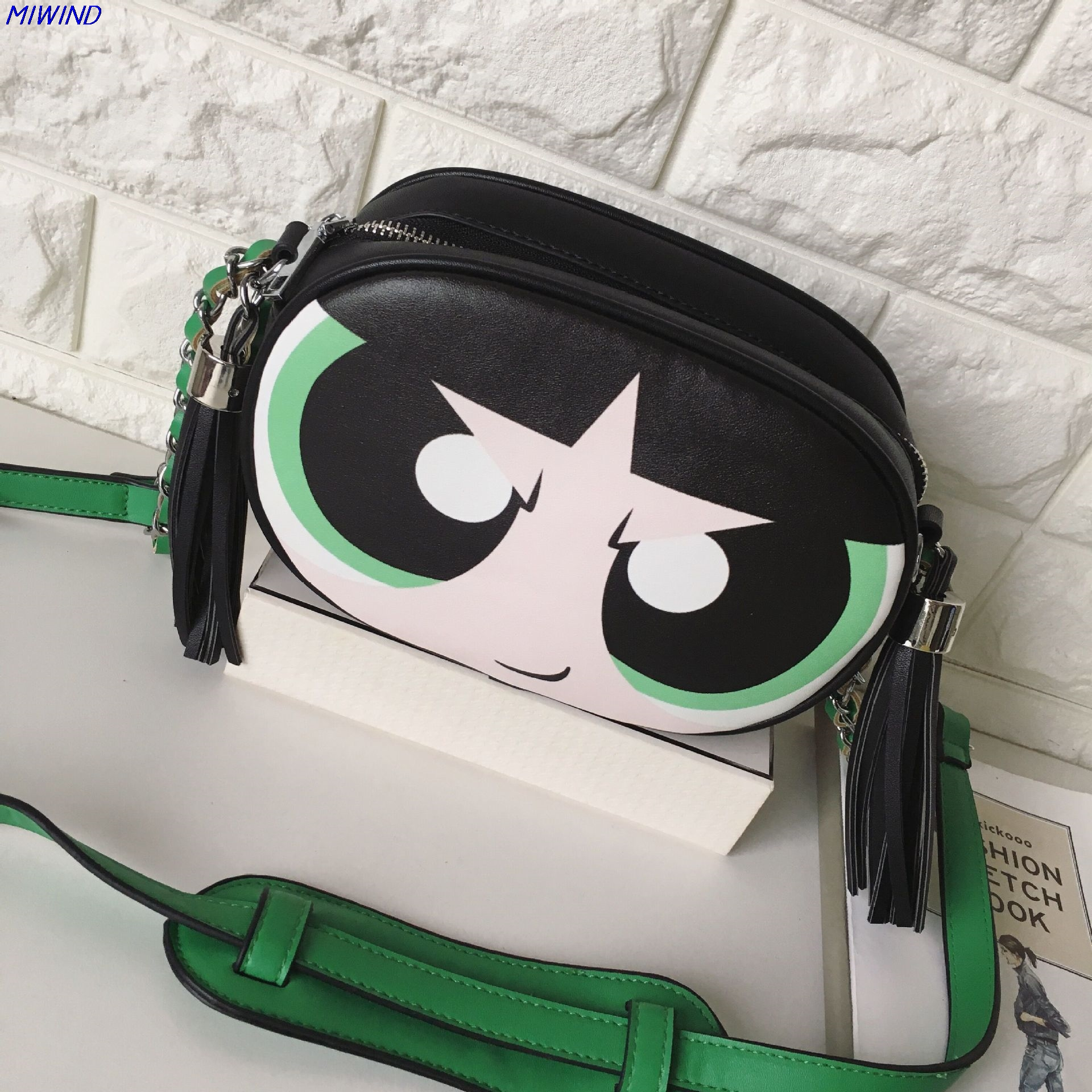 334b486af5 MIWIND Women Famous Brands Chain Shoulder Bag Powerpuff Girls Flap Bag  Ladies Handbag Clutch Purse-in Shoulder Bags from Luggage & Bags on  Aliexpress.com ...