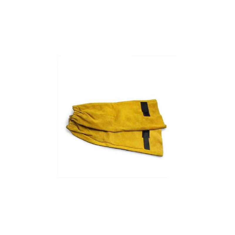 все цены на Welding Sleeve Cowleather Gauntlets Protective armband for Welding C91412 онлайн