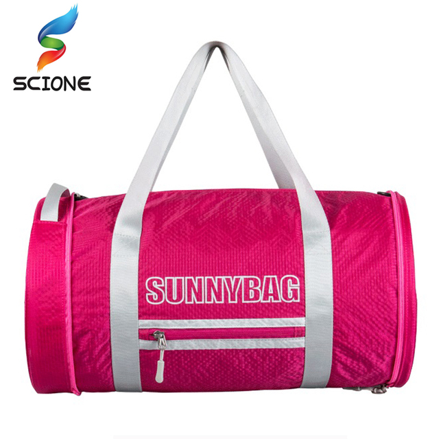 2017 Hot Special Foldable Barrel Sports Fitness Bag For Women Men Gym Bag  Hot Training Female Yoga Duffel Sport Bag Sac De Sport de892deddb579