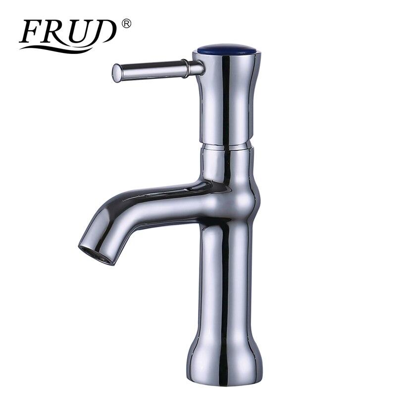 FRUD grue bassin robinet Installation de pont levier unique monotrou en laiton froid et chaud salle de bains évier bassin mélangeur eau du robinet Y10078
