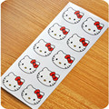 """100PCS """"Hello Kitty"""" Seals Kraft Handmade Paper Sticker Labels Seal Favours Toppers Gift Cupcake Party"""