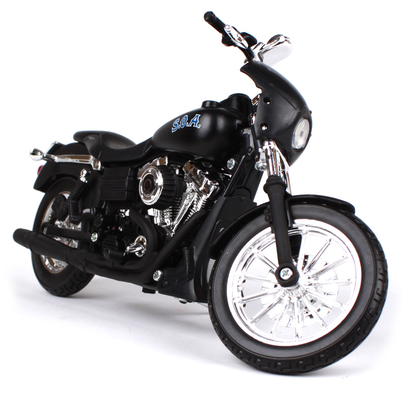Maisto 1:12 2006 FXDBI DYNA STREET BOB ALEX TIG TRAGER SONS OF ANARCHY Motorcycle Die casts ...