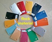 A4*8pcs/bag Flock Cuttable Pu Flex Vinyl Film Red/Black/White/Blue/Orange/Lemon Yellow/Green 7 Color