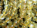 Jewelry making (40 beads/lot)  natural  10-10.5mm rutilated quartz smooth round european beads stone