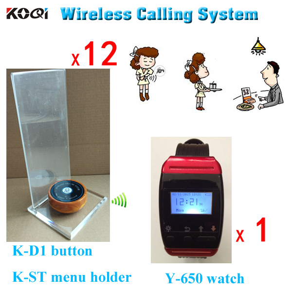 Restaurant table caller Y 650 pager watch with K D1 bell button pager watch watch pagerwatch with - title=