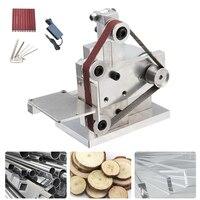 DIY Mini Electric Belt Sander Angle Grinder Polishing Machine Bench Mount Grinding Edge Sharpener Metal Wood Bench Sander Tool