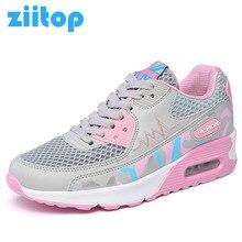 2017 New women Air Cushion running shoes Light Weight Walking Shoes Women Summer Breathable Mesh Sneakers Women Zapatillas Mujer