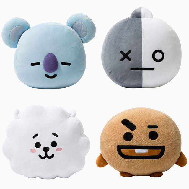 f87075bf34ca SHINEHENG Kpop Bangtan BTS bt21 vapp Pillow warm bolster Q back cushion  Plush Doll TATA VAN COOKY CHIMMY SHOOKY KOYA RJ MANG