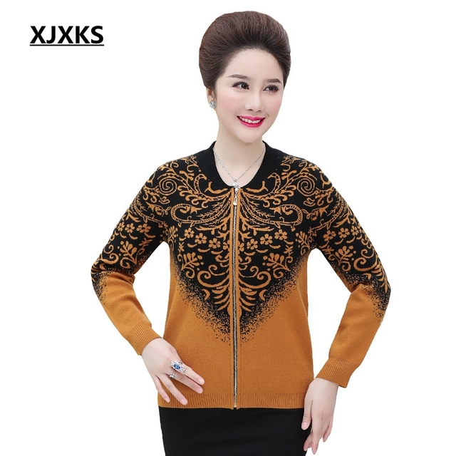 14d2372381 XJXKS Knitted Coats New Autumn 2018 Winter Casual Baseball Collar Cardigan  Women Plus Size Cashmere Outwear Sweater Coat