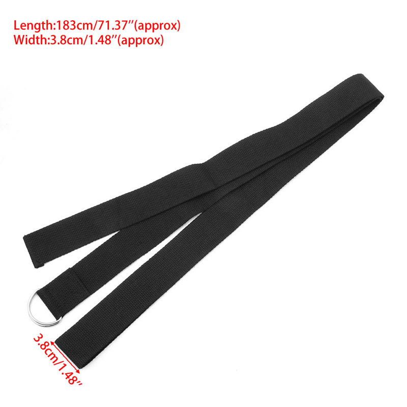 Women Yoga Stretch Strap Multi-Colors D-Ring Belt Fitness Exercise Gym Rope Figure Waist Leg Resistance Fitness Bands Yoga B-3