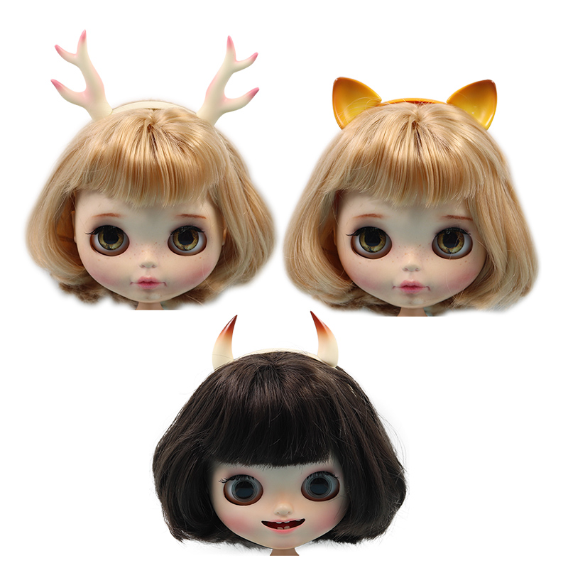 Free Shipping Cost Blyth Dolls Headhoop Antler Cat Devil Headband Ears Grooming Headwear Decorate The Baby Toys Makeup 1/6 Dolls