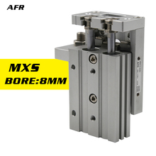 цена SMC Type Double Acting 8mm Bore Slide guide cylinder MXS8-10 MXS8-20 MXS8-30 MXS8-40 MXS8-50 MXS8-75 Pneumatic Air Cylinder онлайн в 2017 году