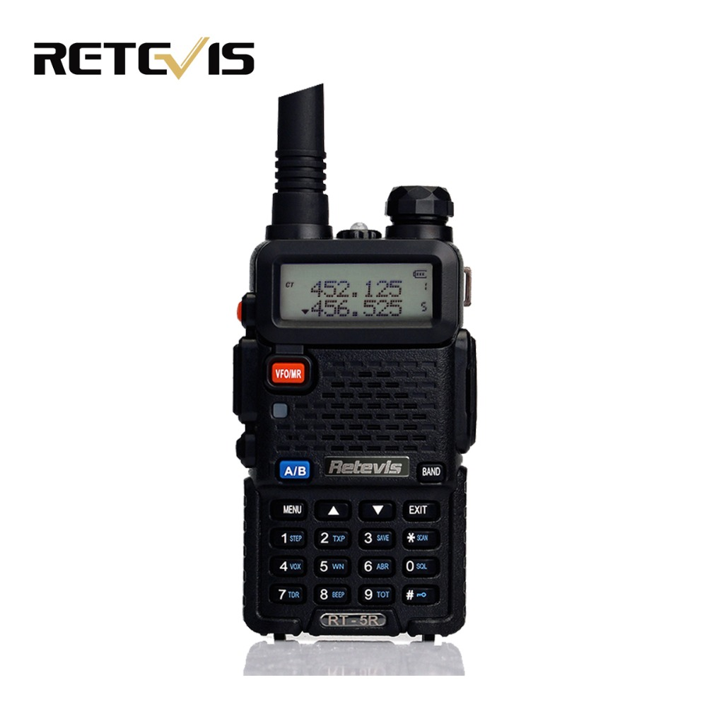 Handy 5W Walkie Talkie Retevis RT 5R VHF UHF 136 174 400 520MHz VOX FM Portable